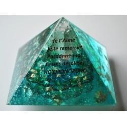 Pyramide HO'OPONOPONO bleue...