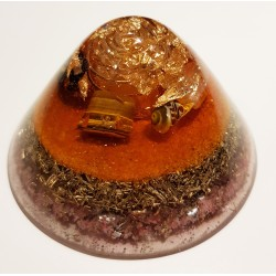 Orgonite dôme orange (100m2)