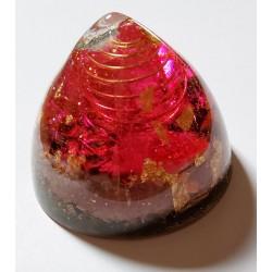 Orgonite petit dôme rose