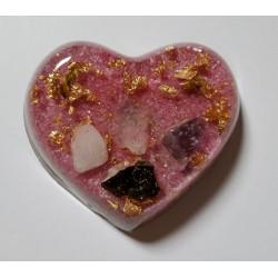 Orgonite petit coeur rose