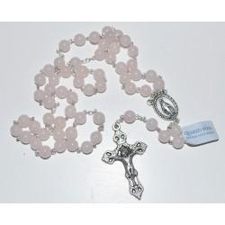 Chapelet perles quartz rose...